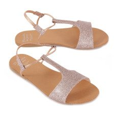 Manuela de Juan  Minokos Glitter Leather Sandals-listing