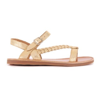 Pom d'Api Antik Metallic Leather Sandals-listing