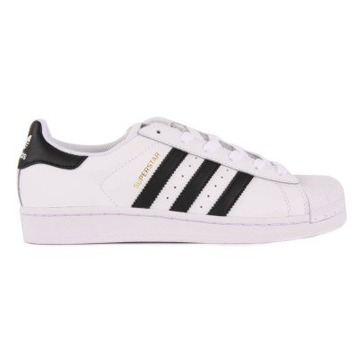 Adidas Baskets Cuir Lacets Superstar Noir-listing