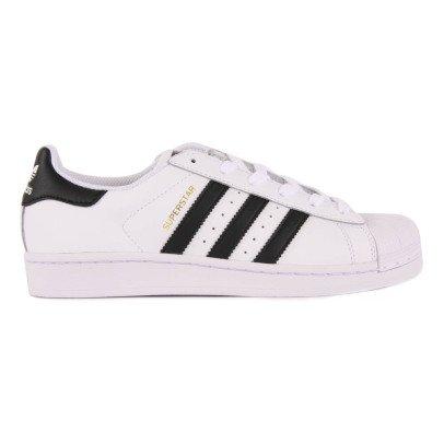 Adidas Lederturnschuhe Superstar-Schwarz -listing