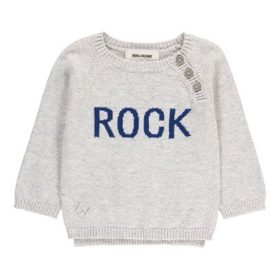 "Zadig & Voltaire Zazou ""Rock"" Cotton and Cashmere Jumper-listing"