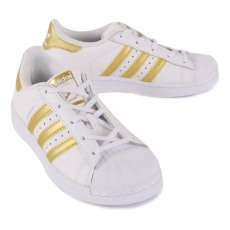 Adidas Gold Superstar Lace-Up Trainers-listing
