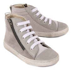 Babywalker Zipped & Laced High Top Trainers-listing