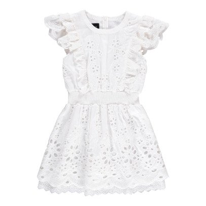 Little Remix Greta Silk and Cotton Dress with Broderie Anglaise-listing