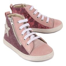 Babywalker Floral Laced High Top Trainers-listing