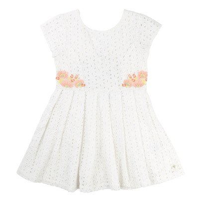 CARREMENT BEAU Low Back Broderie Anglaise Dress-listing