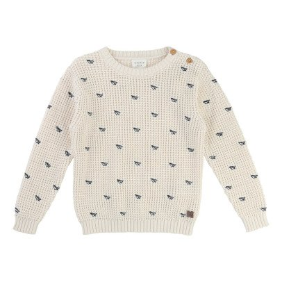CARREMENT BEAU Embroidered Aeroplane Jumper-listing