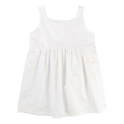 CARREMENT BEAU Polka Dot Linen + Lyocell Dress -listing