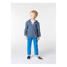 CARREMENT BEAU Striped Pea Jacket-listing