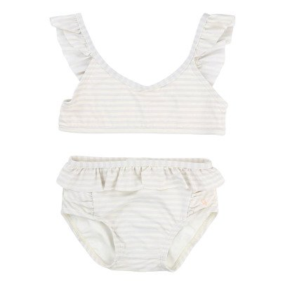 CARREMENT BEAU Ruffle Striped Swimming Bottoms-product