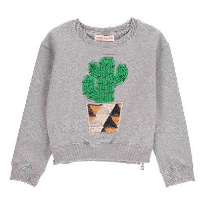 ANNE KURRIS Suéter Corto Cactus Bordado-listing