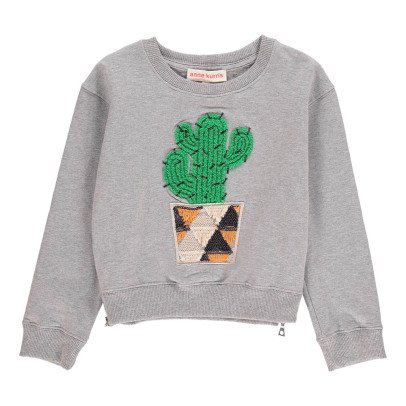 ANNE KURRIS Sweatshirt mit Stickerei Kaktus -listing