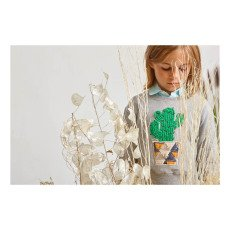ANNE KURRIS Embroidered Cactus Short Sweatshirt-listing