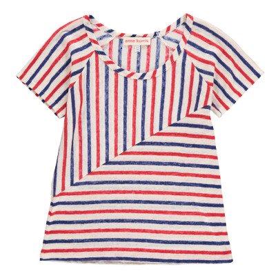 ANNE KURRIS T-shirt in lino a righe -listing