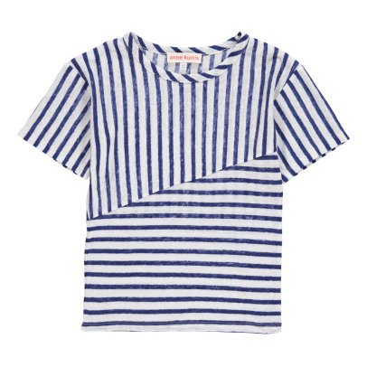 ANNE KURRIS Luca Striped Linen T-Shirt-listing