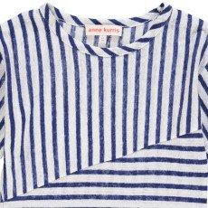 ANNE KURRIS T-shirt Lino a righe -listing
