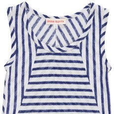 ANNE KURRIS Marcia Striped Linen Vest Top-listing