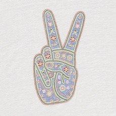 ANNE KURRIS Top aus Leinen Peace -listing