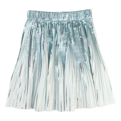 Little Marc Jacobs Iridescent Pleated Midi Skirt-listing