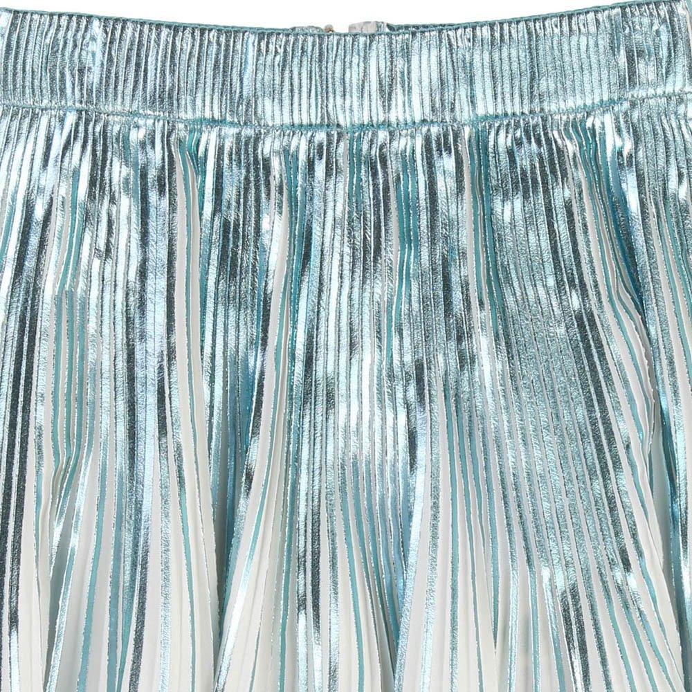 Iridescent Pleated Midi Skirt-product
