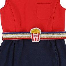 Little Marc Jacobs Robe Milano Bicolore Ceinture Popcorn-listing