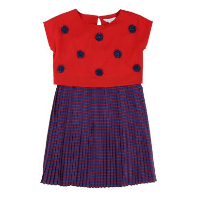 Little Marc Jacobs Pleated 2-in-1 Dress-listing
