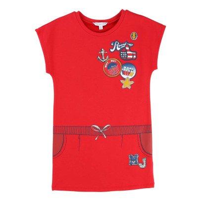 Little Marc Jacobs Trompe L'œil Fleece Dress-listing