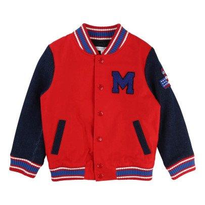 Little Marc Jacobs Denim Sleeve Baseball Jacket-listing