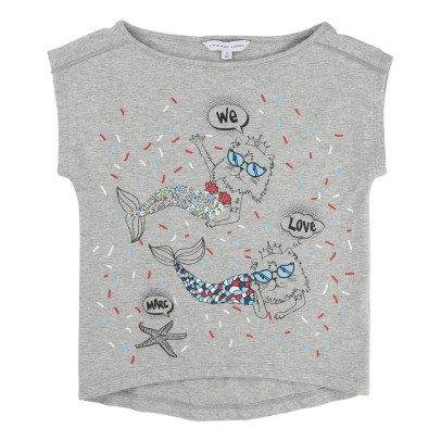 Little Marc Jacobs T-shirt Sirènes Sequins-listing