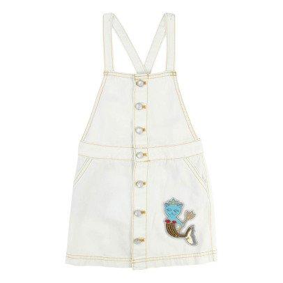 Little Marc Jacobs Denim Dungaree Dress-listing