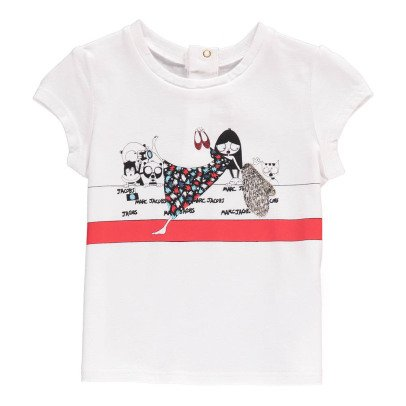 Little Marc Jacobs Baby T-Shirt Miss Marc-Rot -listing