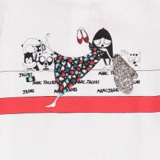 Little Marc Jacobs T-shirt Miss Marc Tapis Rouge Bébé-listing