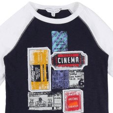 Little Marc Jacobs Camiseta Bicolor Parches Cinéma-listing