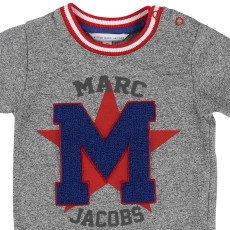 """Little Marc Jacobs T-shirt Patch """"M"""" Bouclette Bébé-listing"""