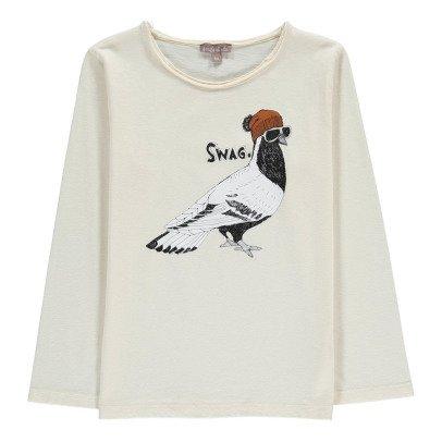 "Emile et Ida ""Swag"" Pigeon T-Shirt-listing"