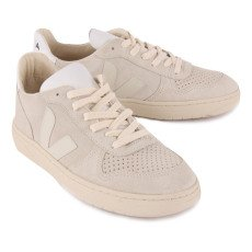 Veja V-10 Suede Lace-Up Trainers-listing