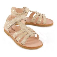 Angulus Velcro Flecked Suede Sandals-listing