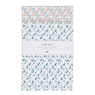 Hay Cahier à pois vert - Set de 2-listing