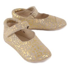 Petit Nord Suede Velcro Ballerina Slippers-listing