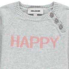 """Zadig & Voltaire Pull Coton Cachemire """"Happy"""" Zazou-listing"""