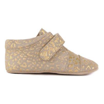 Petit Nord Patucos Cuero Velcro Leopardo -listing