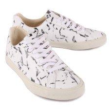 Veja Baskets Lacets Cuir Marbre Espar Low-listing