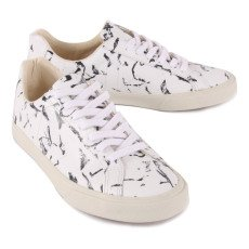Veja Low Espar Marble Leather Lace-Up Trainers-listing
