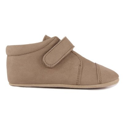 Petit Nord Leather Velcro Slippers-listing