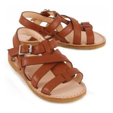 Angulus Multi Strap Buckled Leather Sandals-listing