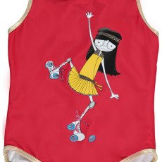 Little Marc Jacobs Rollerskate Miss Marc 1 Piece Swimsuit-listing
