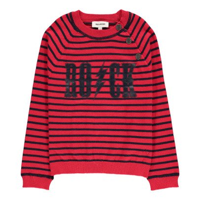 Zadig & Voltaire Pete Cashmere and Cotton Striped Jumper-listing