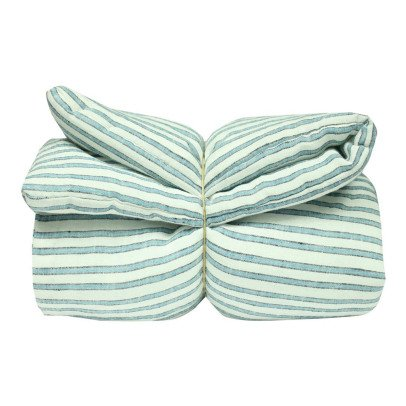Lab - La Petite Collection Three Colour Striped Blanket-listing
