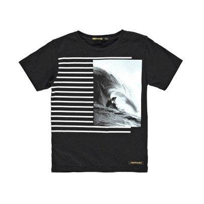 Finger in the nose Gestreiftes T-Shirt Surf Dalton -listing