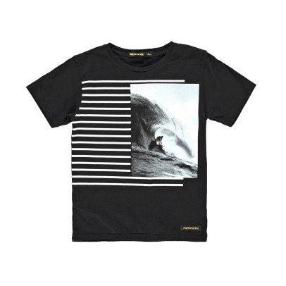Finger in the nose T-shirt Rayures Surf Dalton-listing